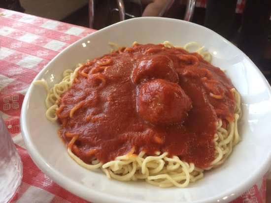 Boardman, OH: Meatball with sphagetti--small meat portions