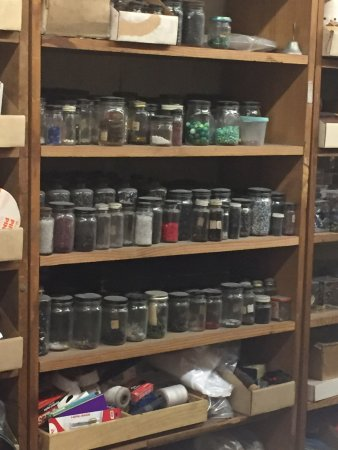 LA Fashion District: California Millinery Supply Jars of Trinkets