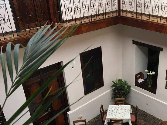 Casa Ordonez: A birdseye view of the breakfast are.