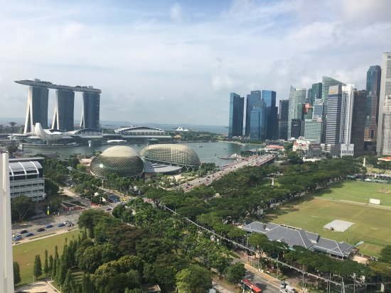 Fairmont Singapore: View from club lounge