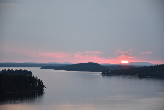 Gouldsboro, ME: sunset from the second story deck