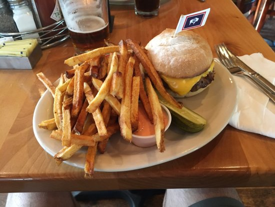 MacPhail's Burgers : Massive buffalo burger, with a mountain of fries!