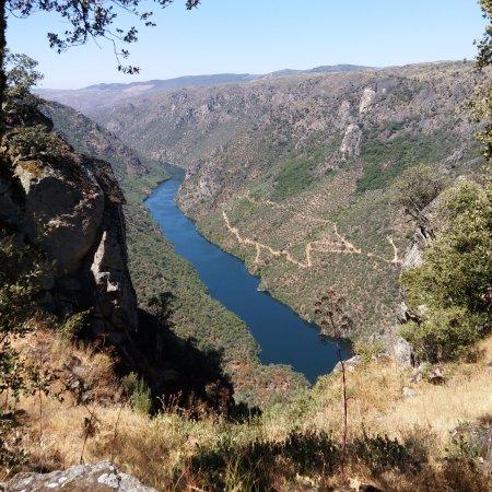 Province of Salamanca, Spania: Vista desde Aldeadávila