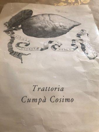 Trattoria Da Cumpa' Cosimo : Just fabulous