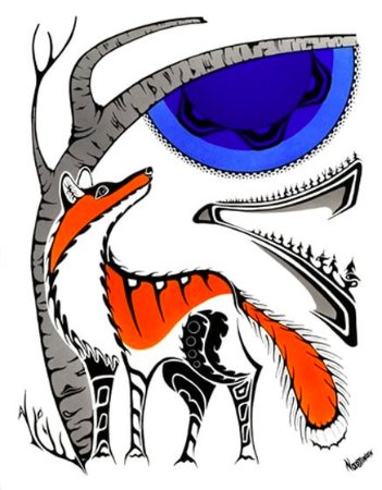 Almonte, Canada: Beautiful First Nations prints by Mark Nadjiwan of Northern Ontario