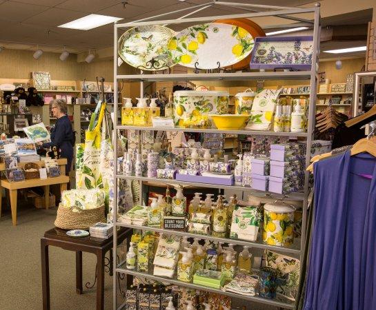 Lake Junaluska, NC: Junaluska Gifts & Grounds has many gift items, souvenirs, books, clothes and more.