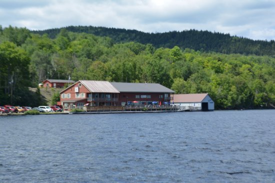Greenville, ME: Kelly's Landing, from across Moosehead Lake