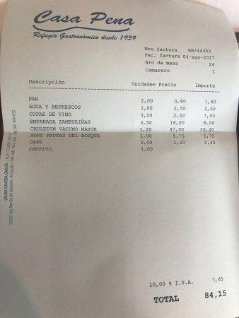 Casa pena la coruna omd men om restauranger tripadvisor - Casa pena moeche ...