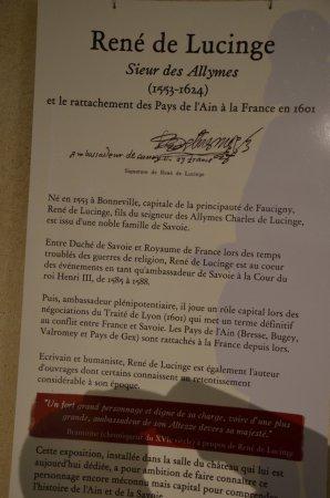 Amberieu-en-Bugey, France : Les informations concernant le chateau
