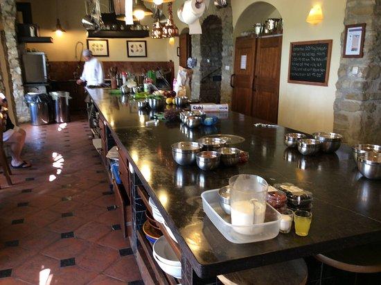 Chiaveretto, Italia: The wonderful kitchen