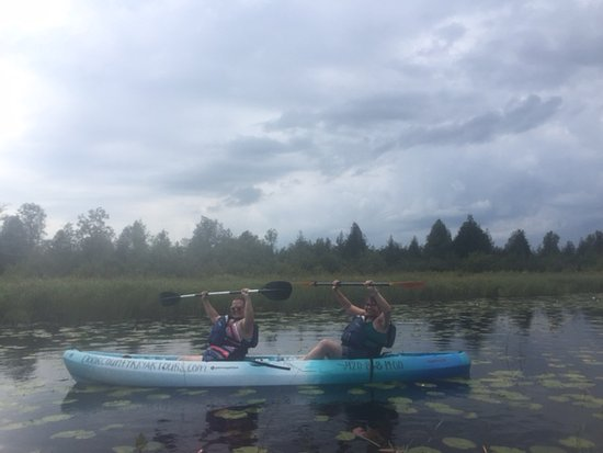 Egg Harbor, Ουισκόνσιν: kayaking with a friend!