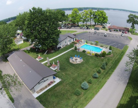 North Webster, IN : Aerial View of Dixie Haven Resort