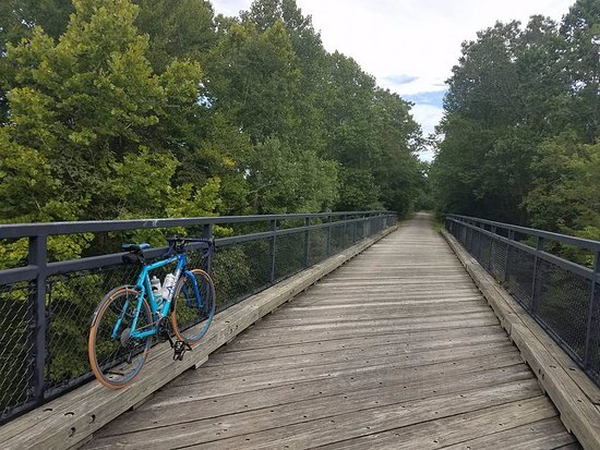 Vienna, IL: One of the bridges that are part of the trail