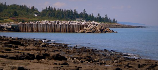 Port George, Canadá: View of the wharf from the picnic park