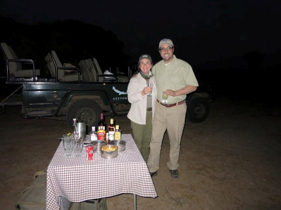 "Phinda Private Game Reserve, South Africa: The nightly ""sundowner"" cocktails while on a game drive."