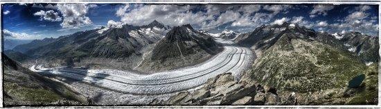 Bettmeralp, Suíça: Magnifique vue depuis le chemin de l'Unesco