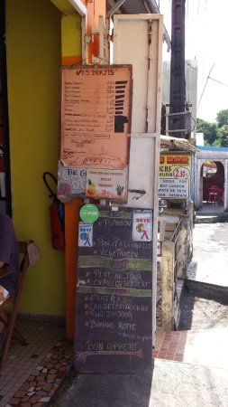 Trois Rivieres, Guadeloupe: menu