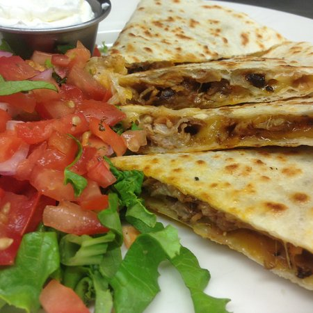 Saint Marys, PA: Chicken Quesadilla - Grilled chicken, sweet peppers, onions and cheese, sour cream & salsa!