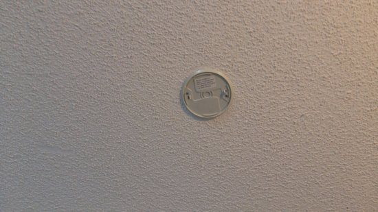 Waiuku, New Zealand: There used to be a smoke alarm....but not anymore.
