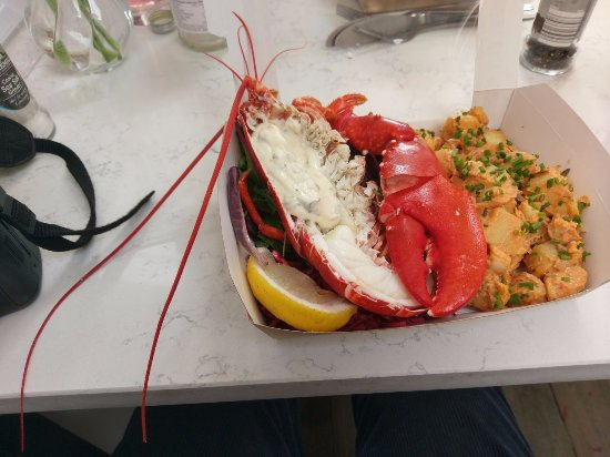 Lobster with potato salad