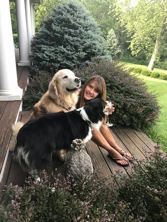 Granville, OH: me with Ellie and Wrigley