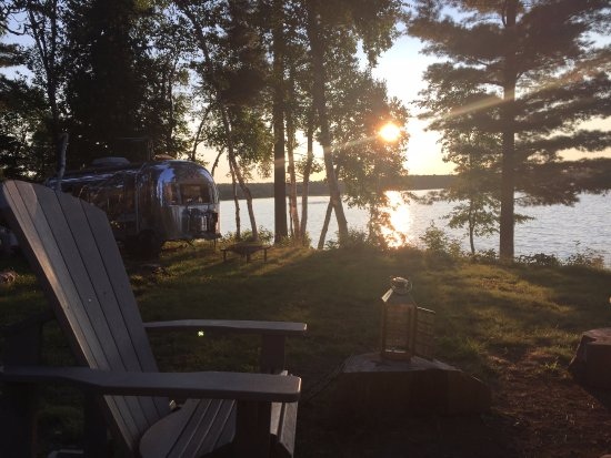 Sundridge, Canada: sunset & a campfire!
