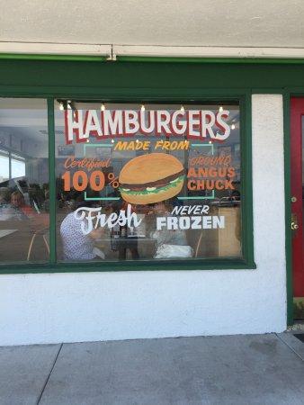 Health Camp : Burger sign