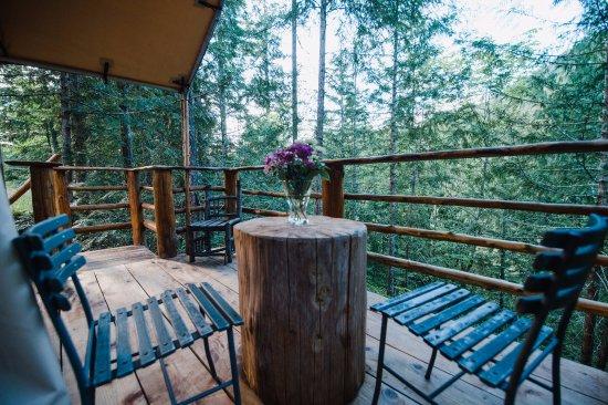 Madeira Park, Canada: Tent - balcony