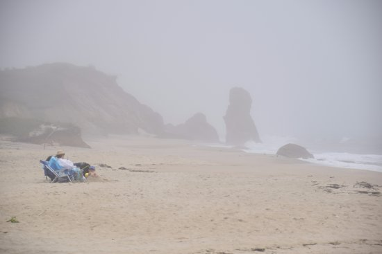 Lucy Vincent Beach: Fog rolling in