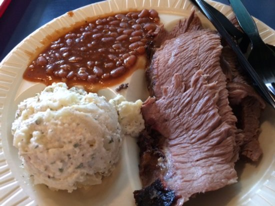 Pig Out Inn Barbeque: One of those full plate dinners (a whole lot of food, but it is good!)