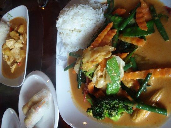 Rensselaer, Nova York: Red Curry Veg, Summer Rolls & Chicken Curry