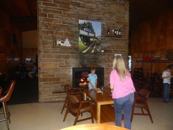 The Fireside Restaurant Fireplace