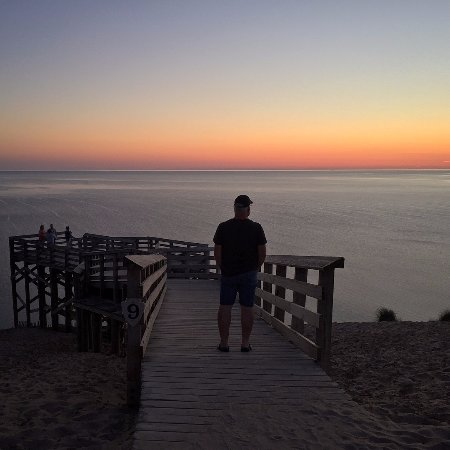 Pierce Stocking Scenic Drive : #10 on the scenic route, overlook of Lake Michigan