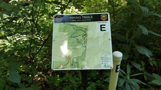 One of the maps and trail markers - Picture of Great Seal State Park ...
