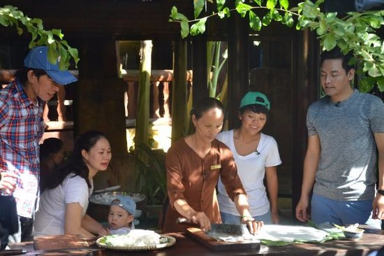 Quang Nam Province, Vietnam: Phan Anh  enjoyed Quang noodle making