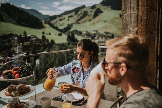 Adler Resort: Frühstück am Balkon