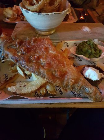 The Exeter Arms: Fish and chips