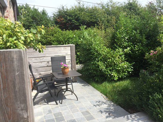 Holsbeek, Belgio: Terrace of room 1-with kitchen