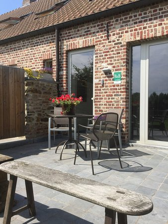 Holsbeek, Belgio: Terrace of the holiday home