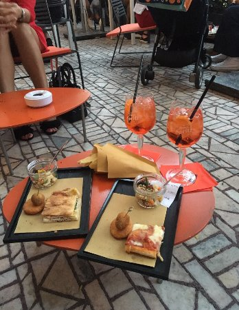 Free snacks and Aperol Spritz - Picture of Terrazza Aperol, Milan ...