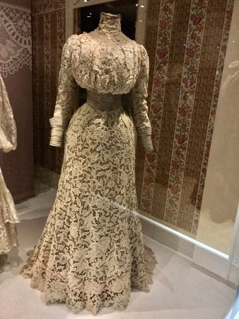 Fashion Museum Bath  From the Lace in Fashion Exhiibtion   day dress made  of  From the Lace in Fashion Exhiibtion   day dress made of  chemical  . Bath Fashion Museum Gift Shop. Home Design Ideas