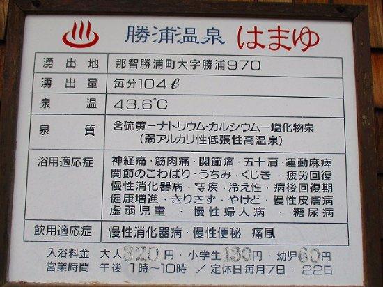 Katsuura Onsen : 泉質説明(営業時間は午後3時~10時に変更)