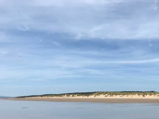 Pembrey, UK: Looking back at beach and sand dunes