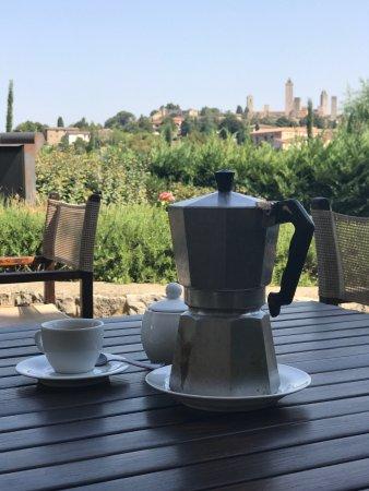 Locanda Viani: Café estilo Bene Vento, Napoli de despedida hecho por la Gran Chef Paola, combinado con Xoccouau