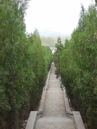 Qufu, Kina: The steps looking down