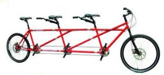 Tridem Three seat tandem Triple Tandem Bike Three Person Bike