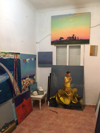 San Juan de Alicante, Hiszpania: art studio