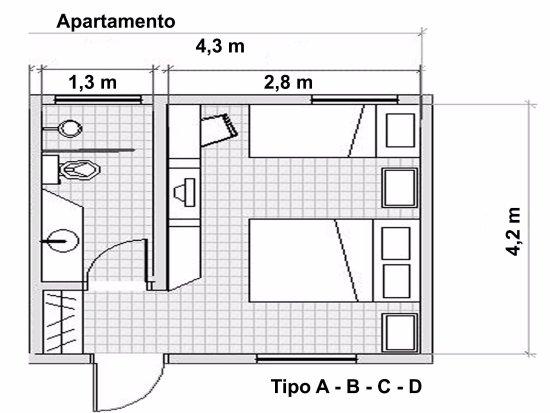 Quarto tipo a b c d planta baixa foto de hotel pousada for Comedor industrial pdf