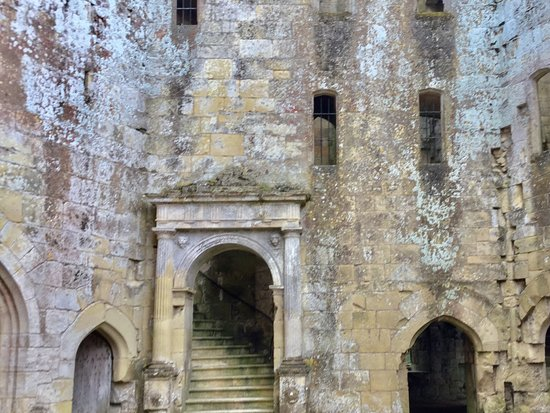 Tisbury, UK: Main staircase from the courtyard