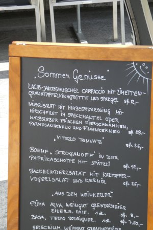 Triesenberg, Liechtenstein: Our menu changes frequently. Come see for yourself!